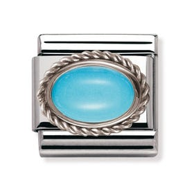 Silver & Turquoise December Birthstone Charm