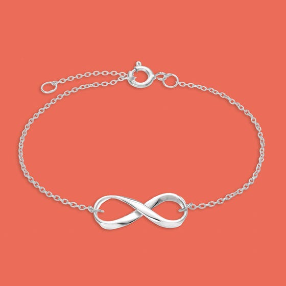 Muse Delicate Silver Infinity Bracelet