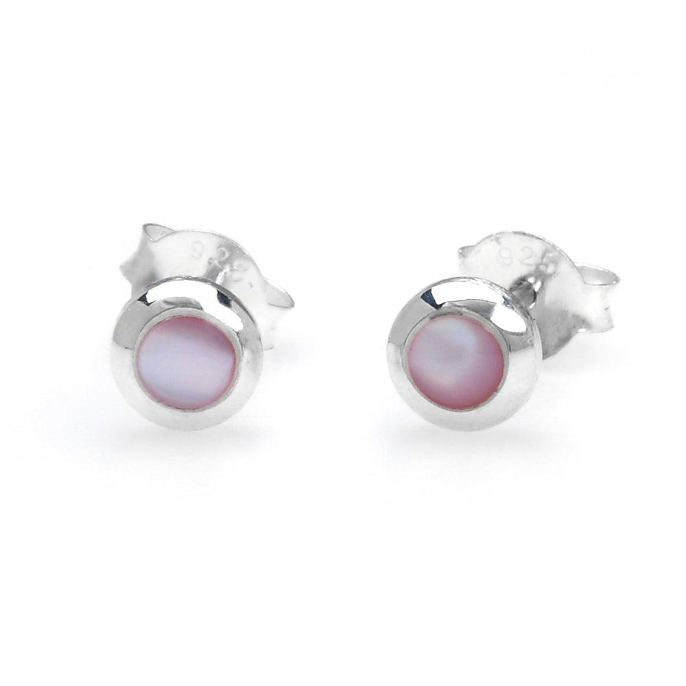 John Greed Sophia Silver & Pink Mother of Pearl Earrings